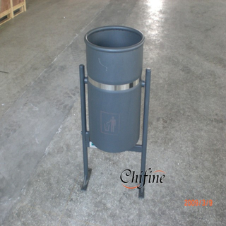 Steel Garbage Bin With Powder Coating for Urban Furniture